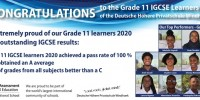 Exceptional IGCSE results: Grade 11/2020