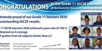 Bemerkenswerte IGCSE-Ergebnisse der 11. Klassen 2020