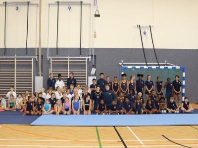Eröffnung der DHPS-Turnhalle  -  Opening of DHPS gym hall