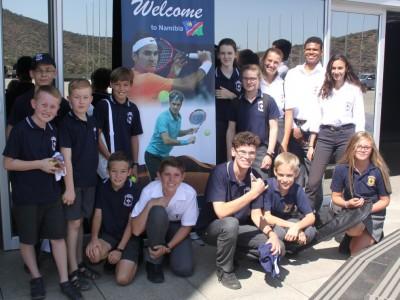 Roger Federer visits Namibia
