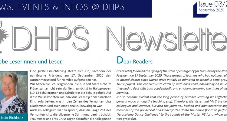 Latest Newsletter (September 2020) is out now!