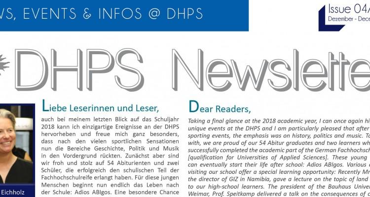 Neuer DHPS-Newsletter: Dezember 2018