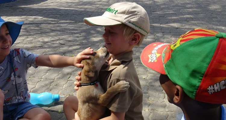 The pre-school´s Adler class visits the SPCA