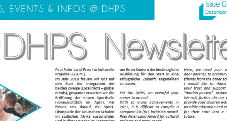 New DHPS Newsletter: December 2017