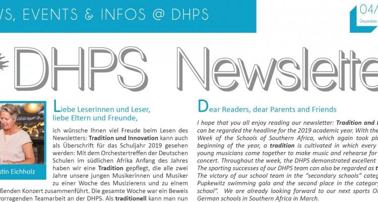 New DHPS Newsletter: December 2019