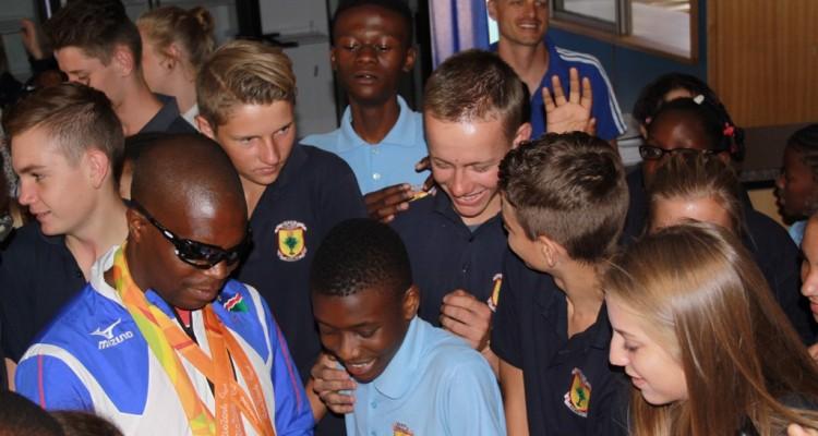 Herzlichen Glückwunsch den namibischen Para-Athleten & danke für das tolle Training