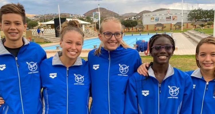 DHPS swimmers at CANA swimming competitions in Botswana